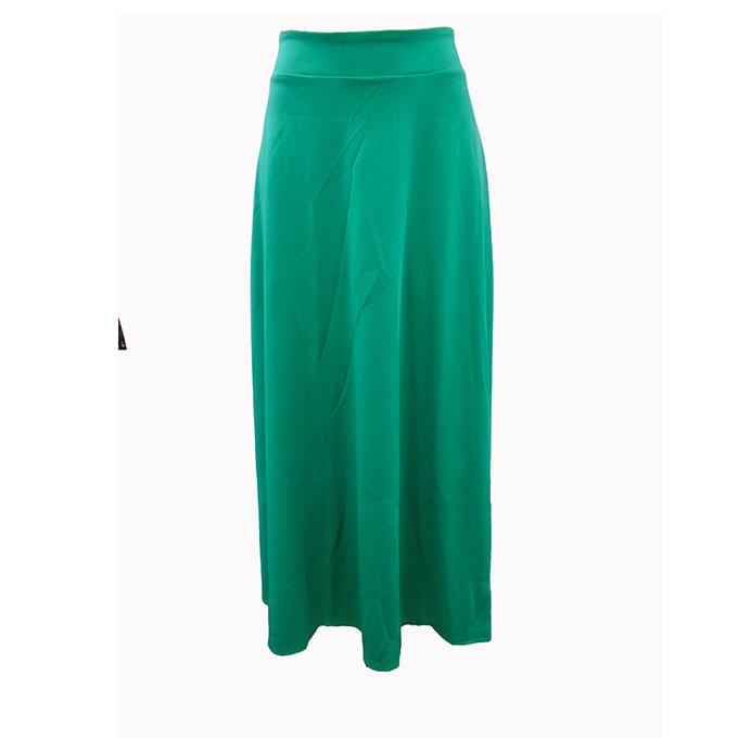 13c4df1008b Women s plain long skirt-Green No ratings yet.