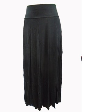 Women's long round black skirt