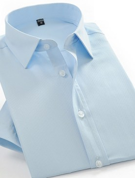 Men's short sleeved formal shirts-Light  Green.