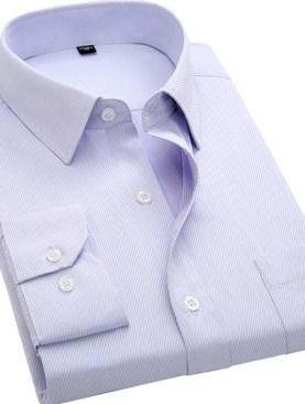 Men's long sleeved formal shirts-Light Purple.
