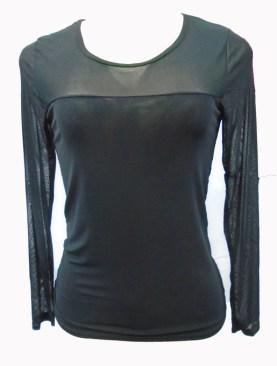 Women's long sleeved camisoles-Black.