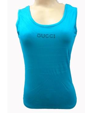 Women's plain vests-Turquoise.