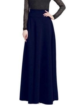 Ladies fancy long skirts-Navy Blue.