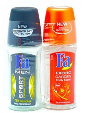 Fa Roll on Deodorants-Double Pack(Exotic Garden&Sport)