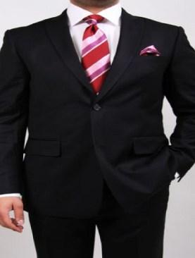 Men's royale two button suits-Black.