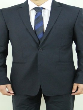 Men's classic two button suit-Navy Blue.