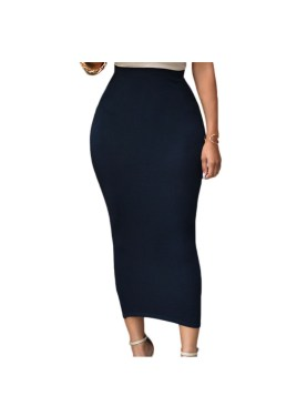 Body tight maxi skirt-Navy Blue.
