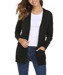 Classy ladies cardigan-Black.