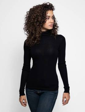 Turtle neck long sleeved top-Black. (Copy)