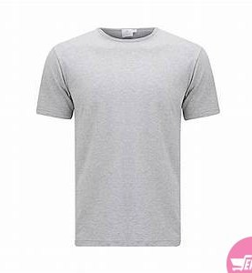 Meen's plain cotton tshirts-Grey.
