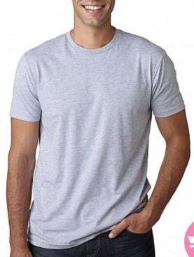 Plain Grey Round Neck Men's T-Shirt - Grey