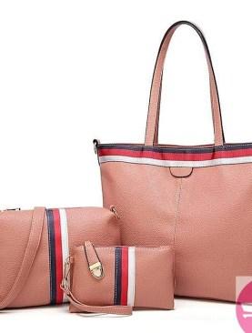 Designer 3 pack hand bag set for ladies-Black,brown,gold..
