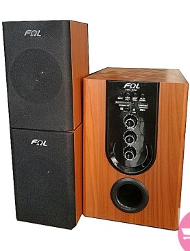 Vintage FQL speaker with wooden touch-Brown.
