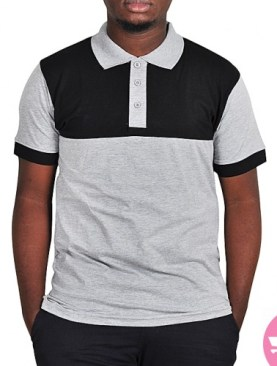 Classic polo t-shirt-Grey,Black.
