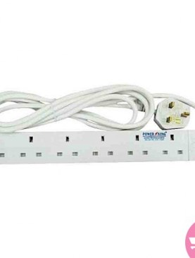 6 ways power king extension cable-White.