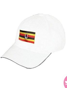 Uganda flag original cap-White.