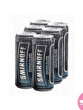 6 Pack Gurana Double Black Canned Beer -smirnof