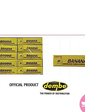 Lotte sugar stick chewing gum - banana outer