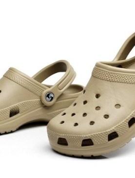 Slip on mule plastic shoes -Brown