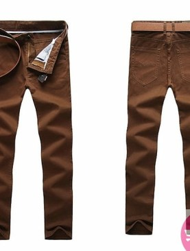 Men's khaki trousers-coffee brown