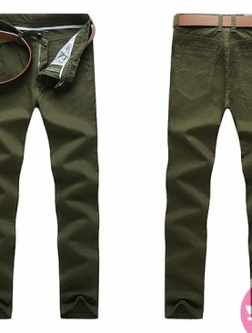 Men's khaki trousers -green