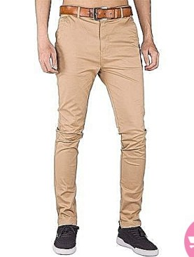 Brown men's khaki trousers