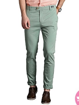 Men's green khaki trouser