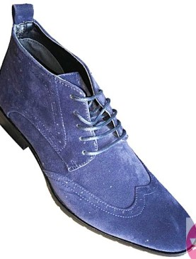 Men's blue ankle suede boot shoes
