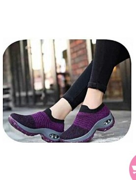 Women's mesh cushioned running casual platform shoes