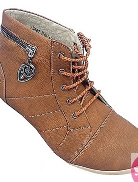 Men's simple Soled Martin's Men High Top Boots - Brown
