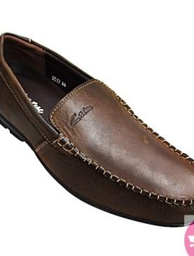 Men's mocassin shoes- dark brown