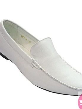 Men's mocassin shoes - white