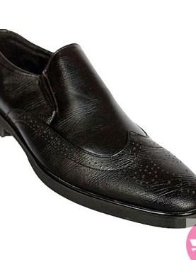 Men's Leather Sandals Non-slip Slides- black