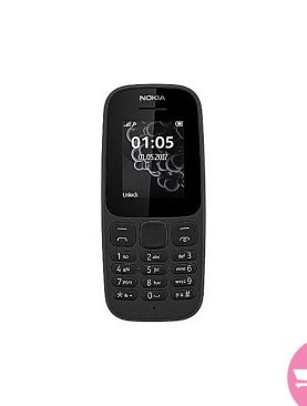Nokia 105 DS 1.8'' Dual Sim, FM Radio, Torch light, 800MAH Battery - Black