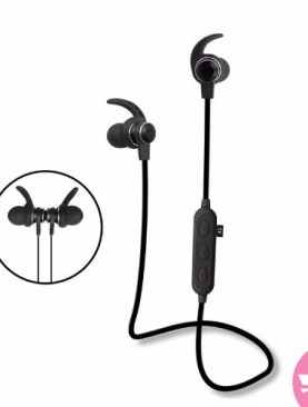 Bonwaye K05 Magnet Sports Bluetooth, Wireless Sound Bass in Ear Earphones, Waterproof V4.1 With Mic - Black