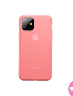 Baseus Jelly Liquid Silicone Soft Protective Case-Transparent for iPhone 11 - Red