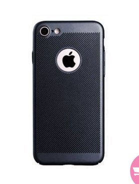 Mesh Dissipating Heat Fingerprint Resistant Hard PC Shockproof Back Case For iPhone 6 - Black