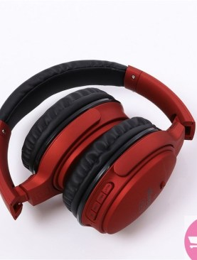 KD15 FM, MP3, TF Card Support Wireless Headset Noise Cancelling Headphone - Red
