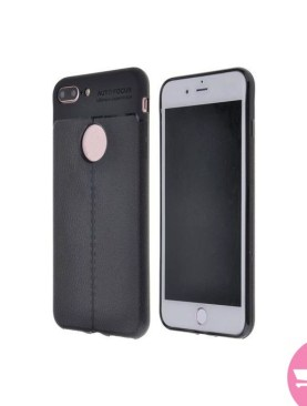 Latest Auto Focus Design Soft Silicone Back Cover For iphone 7 - Black