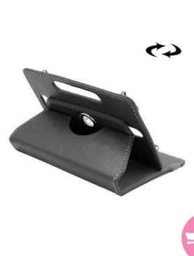 8 Inch Tablets Leather Case Crazy Horse Texture 360 Degrees Rotation Protective Case Shell With Holder For Galaxy Tab S2 8.0 T715 / T710, Cube U16GT, ONDA Vi30W, Teclast P86 - Black
