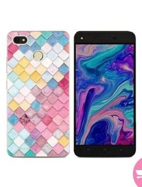 Tecno K7 Phone Case Soft Beautiful Protect TPU Back Cover - Multi-color