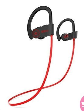 Sports Bluetooth Earphone-Running Wireless Headset - Red, Black
