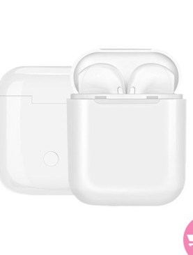 I9S TWS Wireless Earphone Noise Reduction Earbuds With Charging Base - White