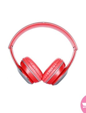 Bluetooth Headphones - Red,Grey
