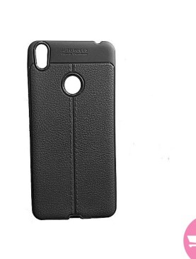 Auto Focus Premium-Feal Cover Case For Tecno Camon X (CA7) - Black