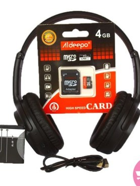 2 In 1 Bat Head Set And Aideepo 4Gb Memory Card – Black