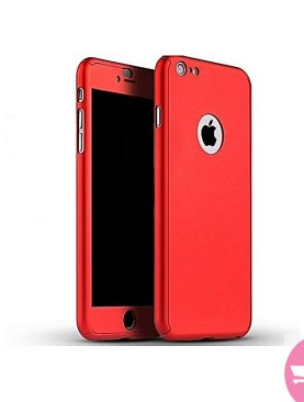 360 Degree Cover For 6/6s With Screen Protector - Red