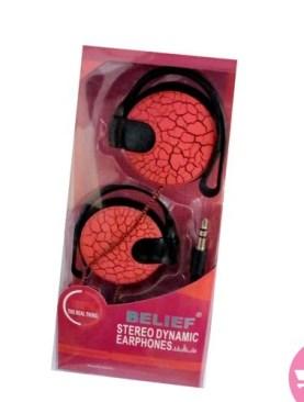 Belief Stereo Dynamic Earphones - Red