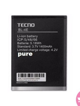 Pure Battery For Tecno W3