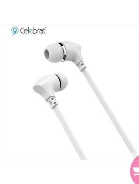 CELEBRAT G3 High Definition Sports Bluetooth Headsets with Mic, Clear and balanced acoustic sound Headphones – White